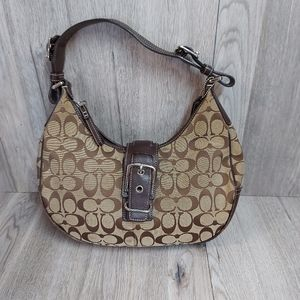 Coach Two Toned Brown Purse Handbag